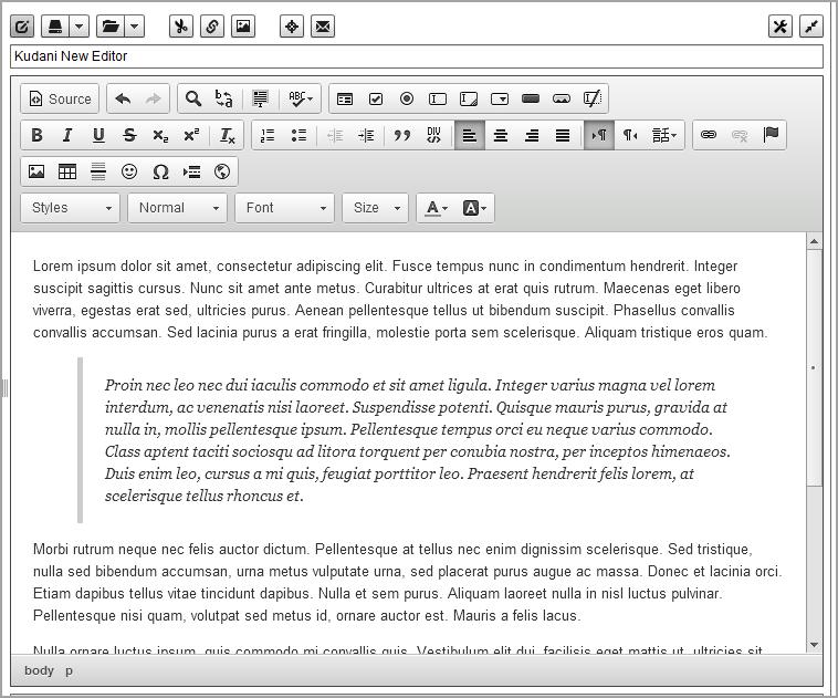 new editor
