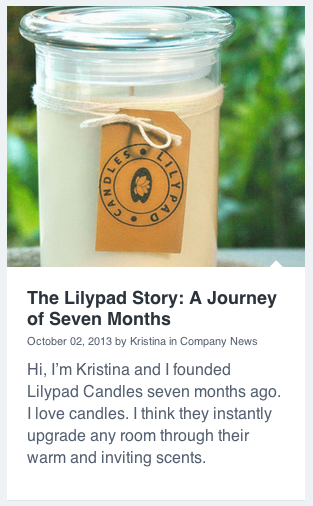 lilypad candles